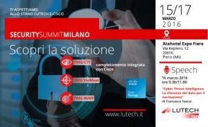 Lutech&Cisco Security Summit 2016 - Invito - 2 MAR 2016